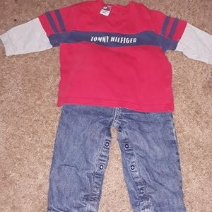 Tommy Hilfiger Jean's and long sleeve tee